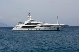 Yacht still adventure in it